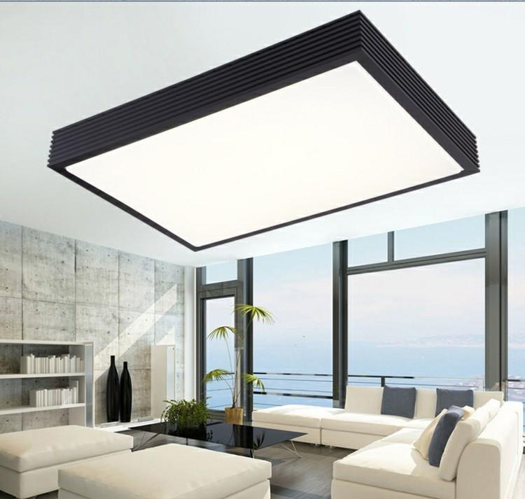 Techos modernos con luces led integradas 50 ideas - Lampara de techo de diseno ...
