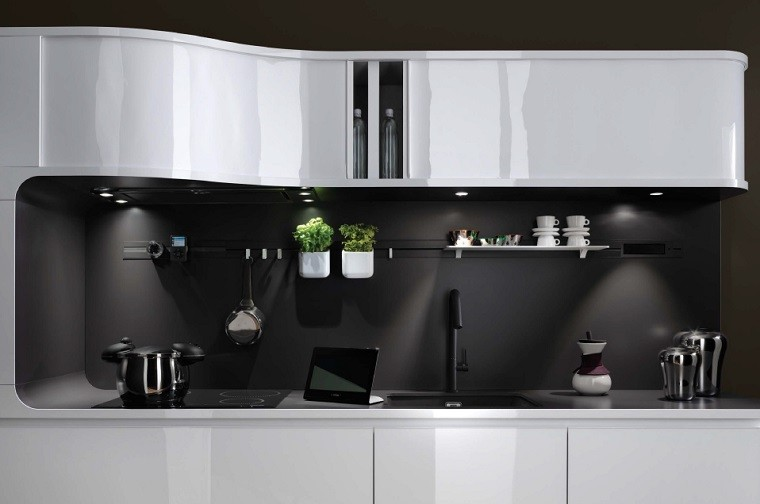 tendencia negro ambiente encimera cocinas