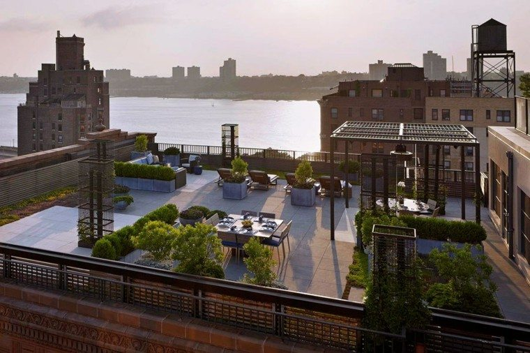 terraza atico pergolas moderna metal