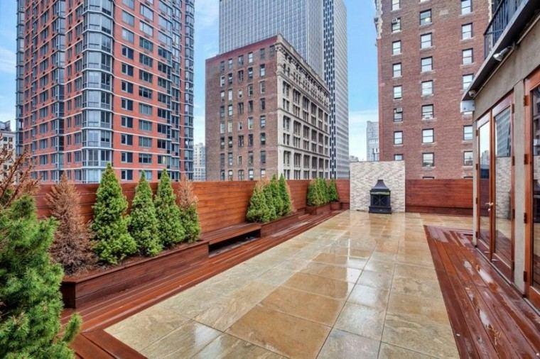 terraza lujosa suelo baldosas marmol