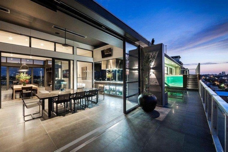 terraza moderna salon vistas ciudad