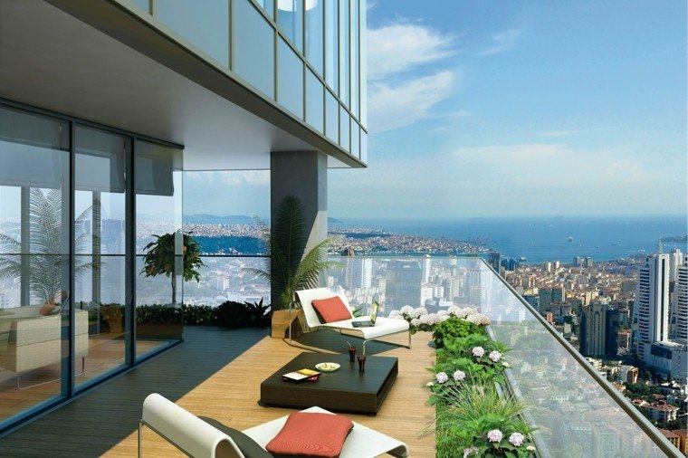 Terrazas decoradas 25 ideas de distintos estilos nicos for Mecedora terraza