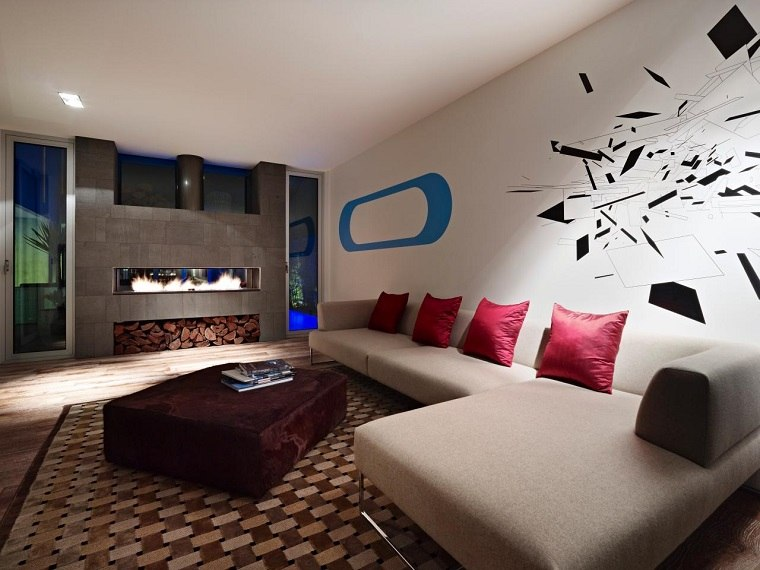 tipos de chimeneas gas madera decorativa salon ideas