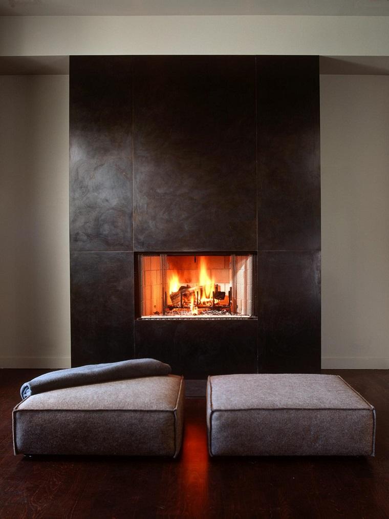Tipos de chimeneas perfectas para un hogar acogedor - Tipo de chimeneas ...