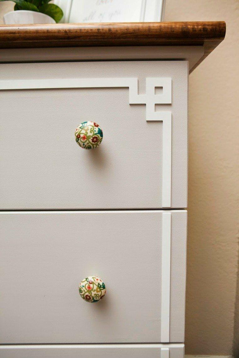 diseño tiradores comoda motivos flores