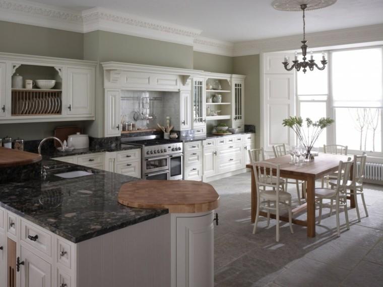 tradicional estilo marmol encimera abierta
