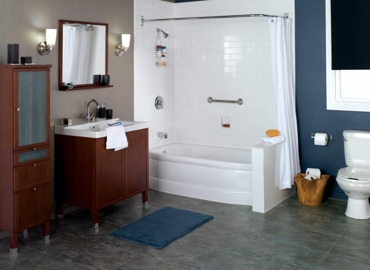 tradicional paredes muebles madera espejo