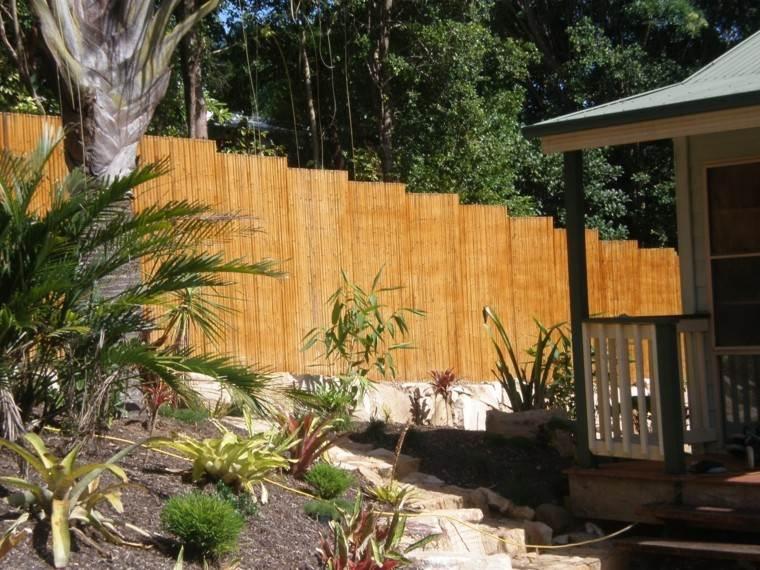 vallas madera jardin escaleras casa plantas ideas
