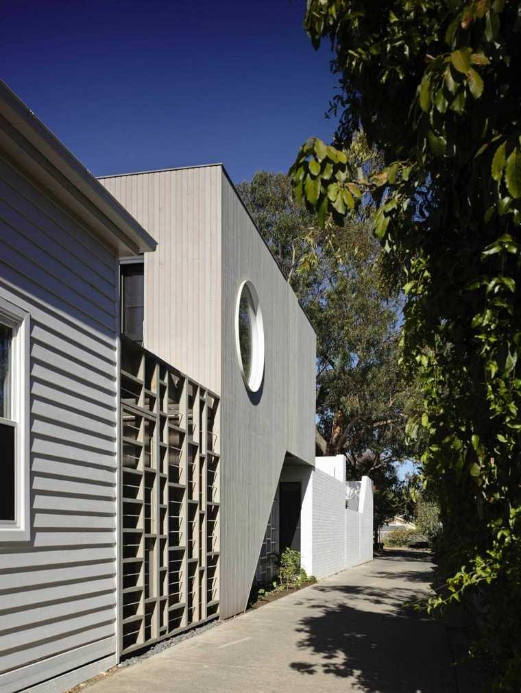 vallas metalicas blancas casa moderna salida ideas
