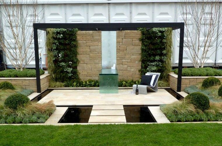 vallas metalicas blancas jardin serenidad moderna ideas