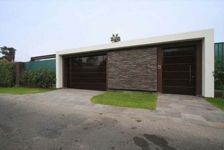 Vallas metalicas de madera u hormig n 50 ideas interesantes for Fachadas de casas modernas en lima