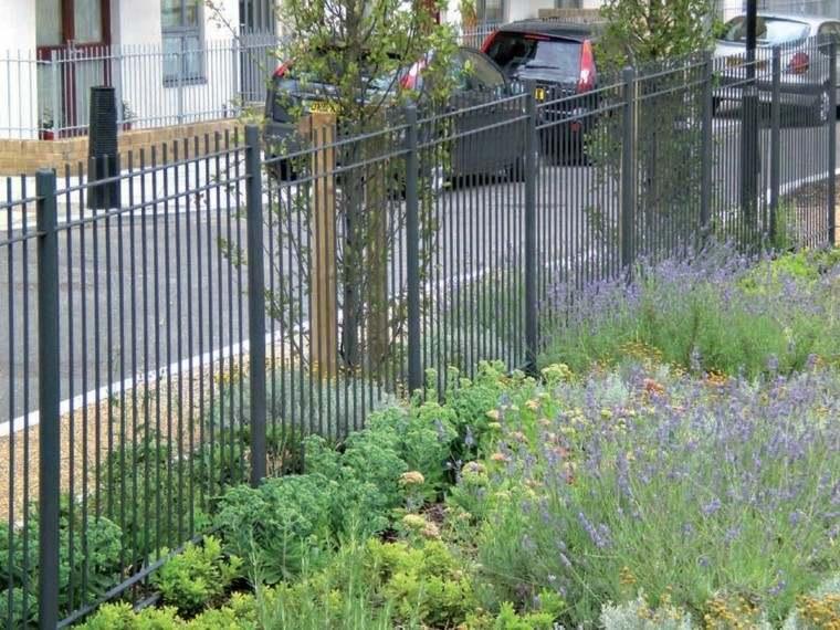 vallas metalicas jardin plantas flores naturaleza ideas