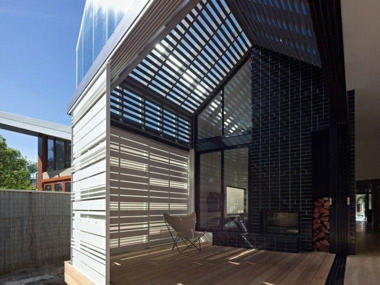 vallas metalicas laminas blancas casa moderna ideas