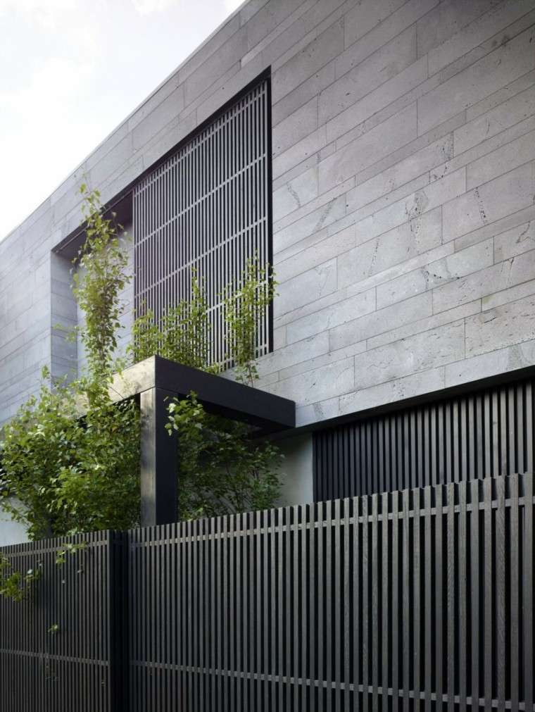 Unpolished Modern Home In Cyprus Blending Industrial: Vallas Metalicas De Madera U Hormigón 50 Ideas Interesantes