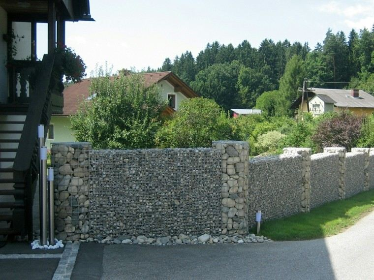 vallas piedras altas resistentes proteger casa ideas