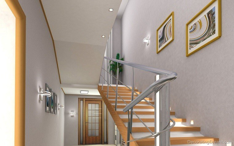 Decorar escaleras con estilo 50 ideas for Cuadros para escaleras