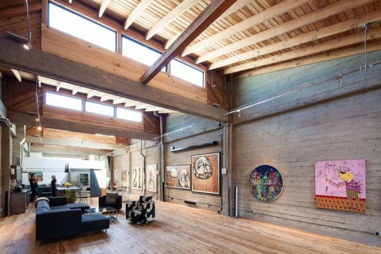 varios cuadros pared loft diseno moderno ideas