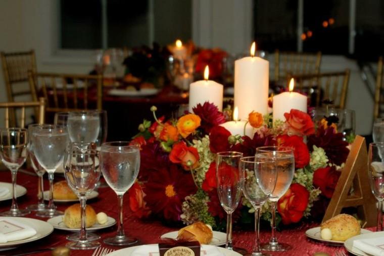 velas blancas decorativas otoño