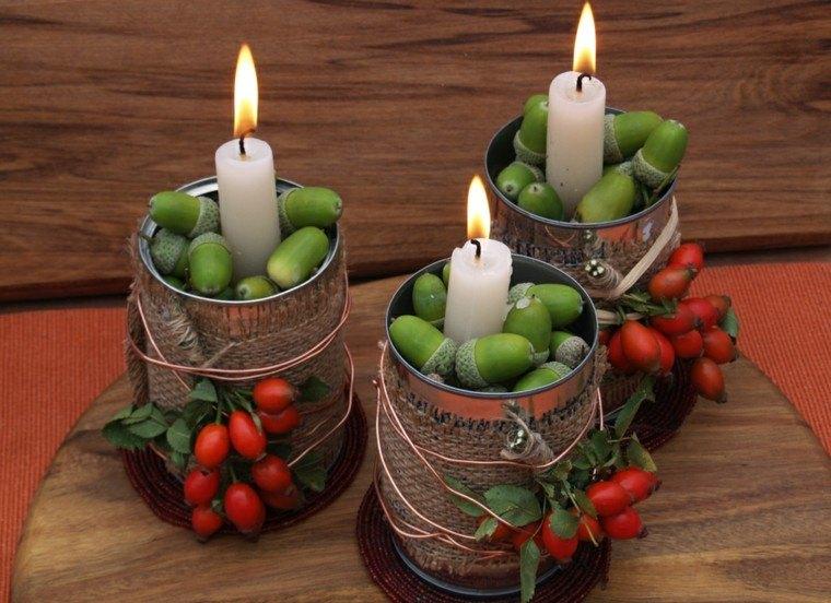 Paisajes de oto o para decorar la mesa 50 ideas - Herbstdeko pinterest ...
