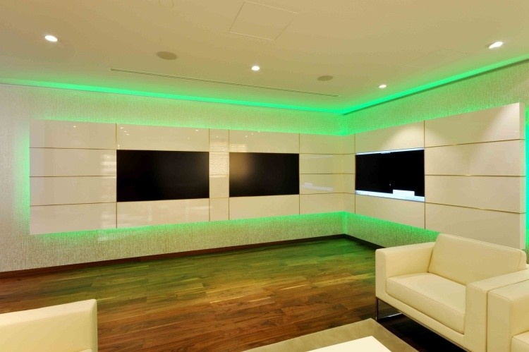 verde led intenso salon muebles