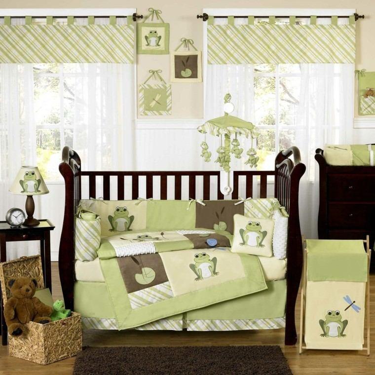 verde mobiliario rana juguetes madera