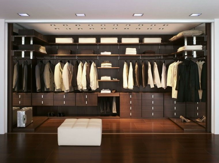 Vestidor dise os en 50 ideas que renovar n tu espacio for Espejos modernos en madera