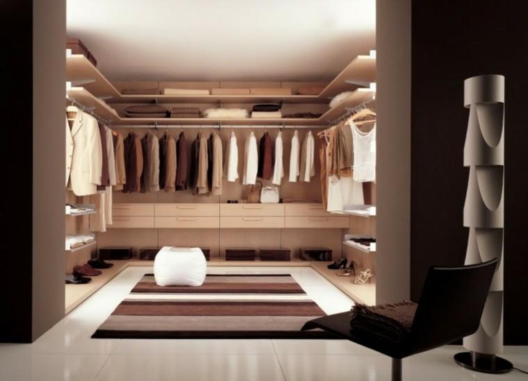 vestidor moderno lujo marron crema
