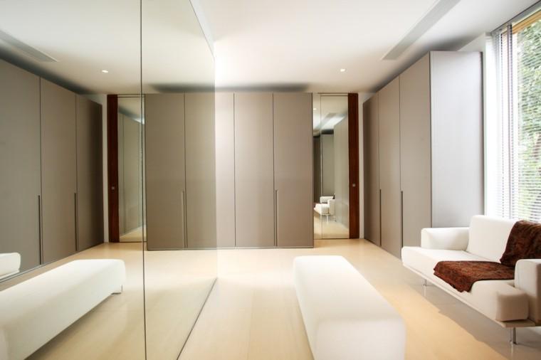 vestidor sofa espejo blanco espejo