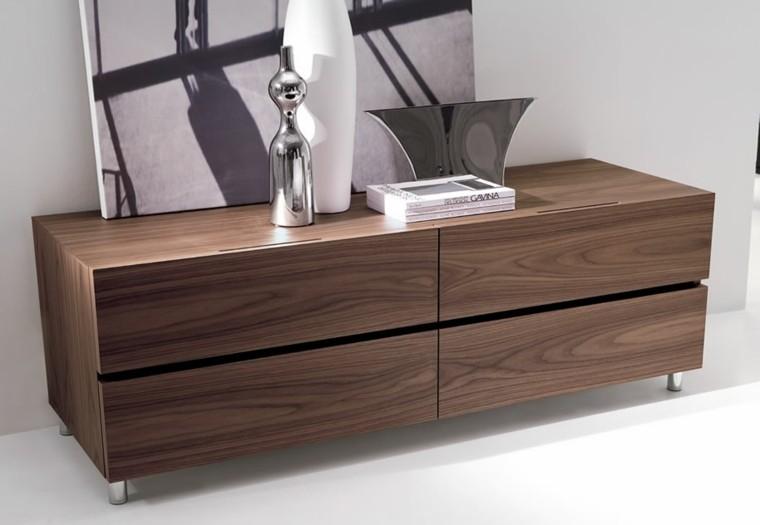 diseño vestidores pequeños laminado madera