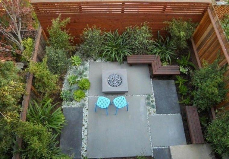 vista superior mobiliario plantas pequeño