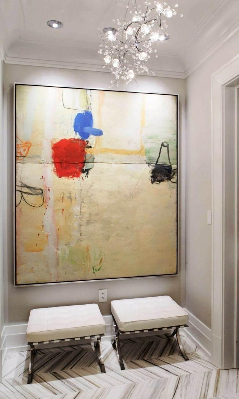 dos taburetes cuadro abstracto moderno