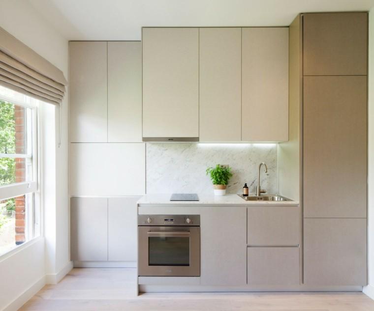 Ardesia Desig pared cocina moderna marmol blanco ideas