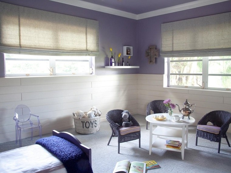 Brian Patrick Flynn paredes purpura muebles ratan modernos ideas