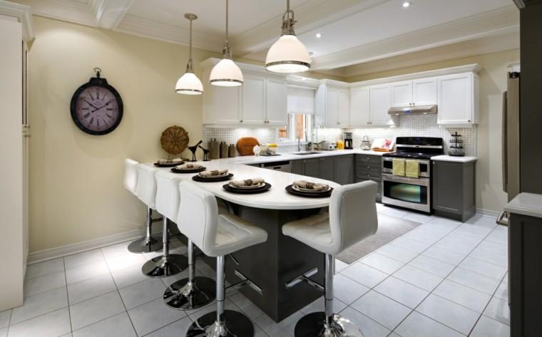 Proyecto cocina 50 cocinas cl sicas y modernas a la vez - Sillas altas de cocina ...
