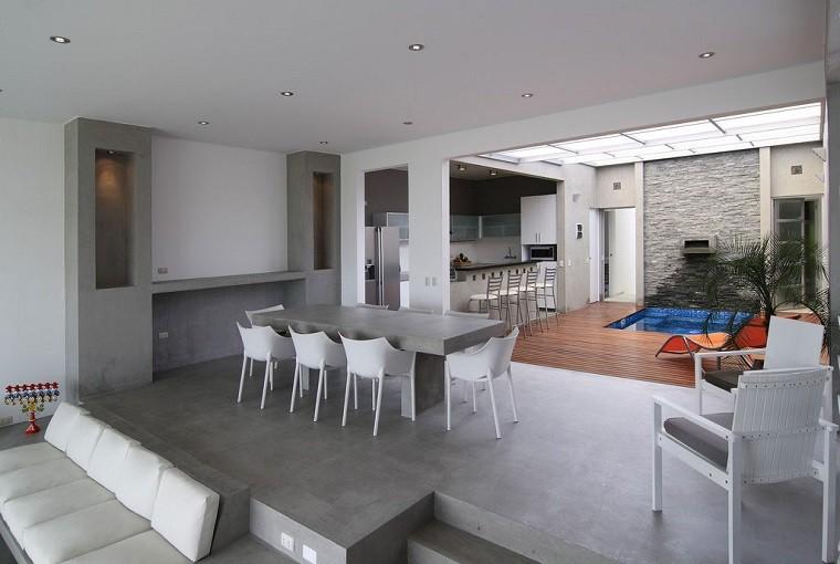 Dise o cocinas abiertas al sal n pr cticas y funcionales for Decoracion de casas 2016