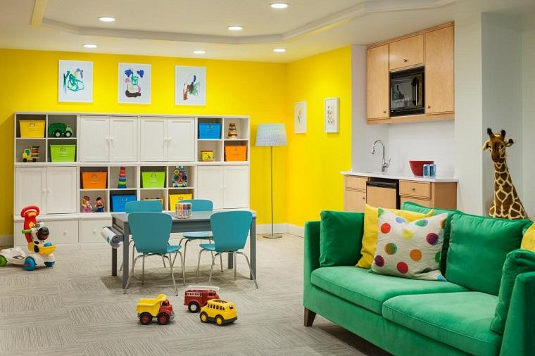 Entretenimiento para los ni os ideas para juegos en casa - Paredes pintadas para ninos ...