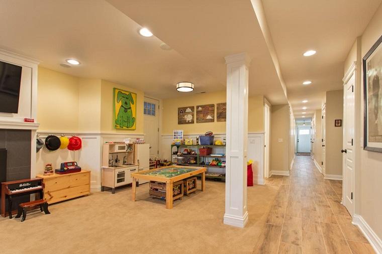 Rebecca Pogonitz habitacion juegos ninos amplia mesa madera ideas