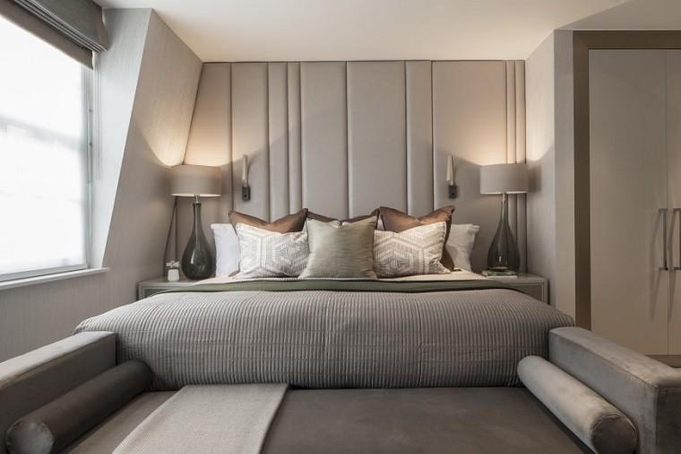Roselind Wilson respaldo cama cuero gris ideas