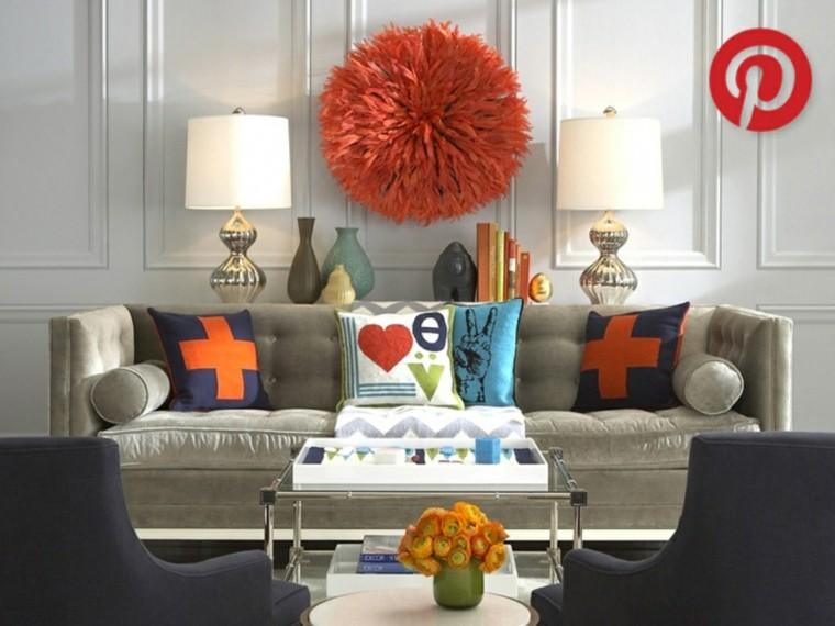 adorno tapiz color naranja