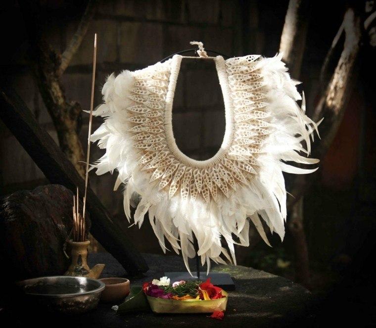 adorno estilo exotico pluma deco