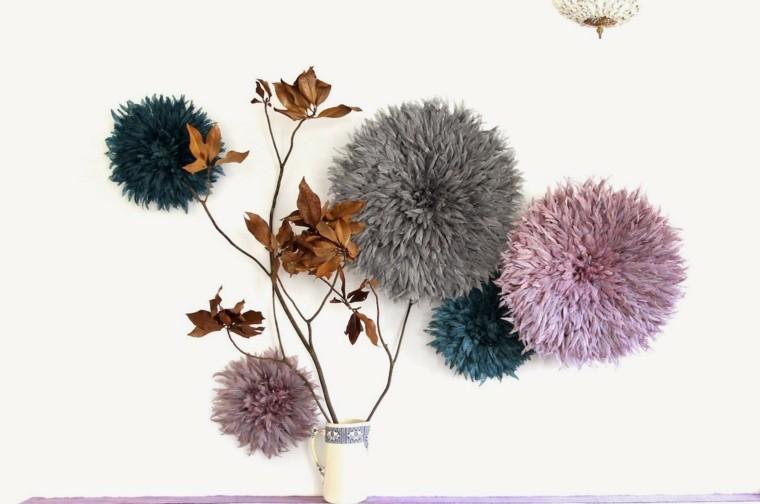 adorno formas flores pluma