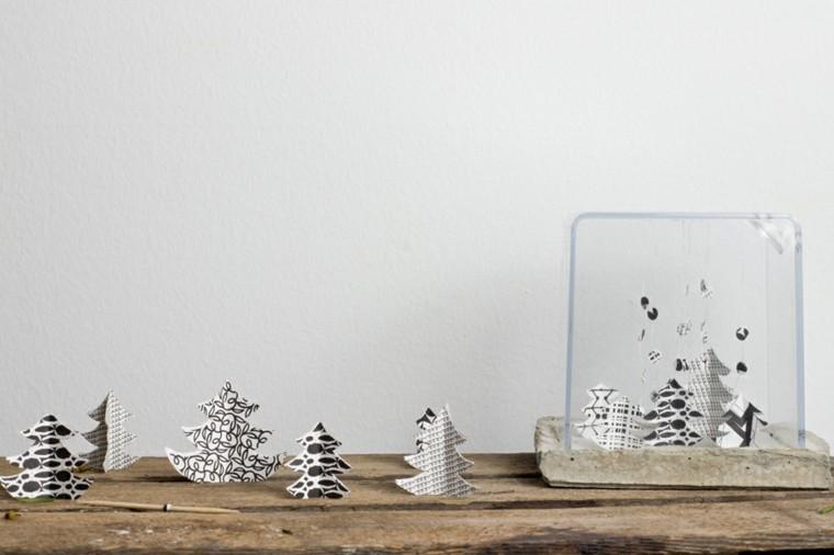 adornos arbolitos cartulina navidad