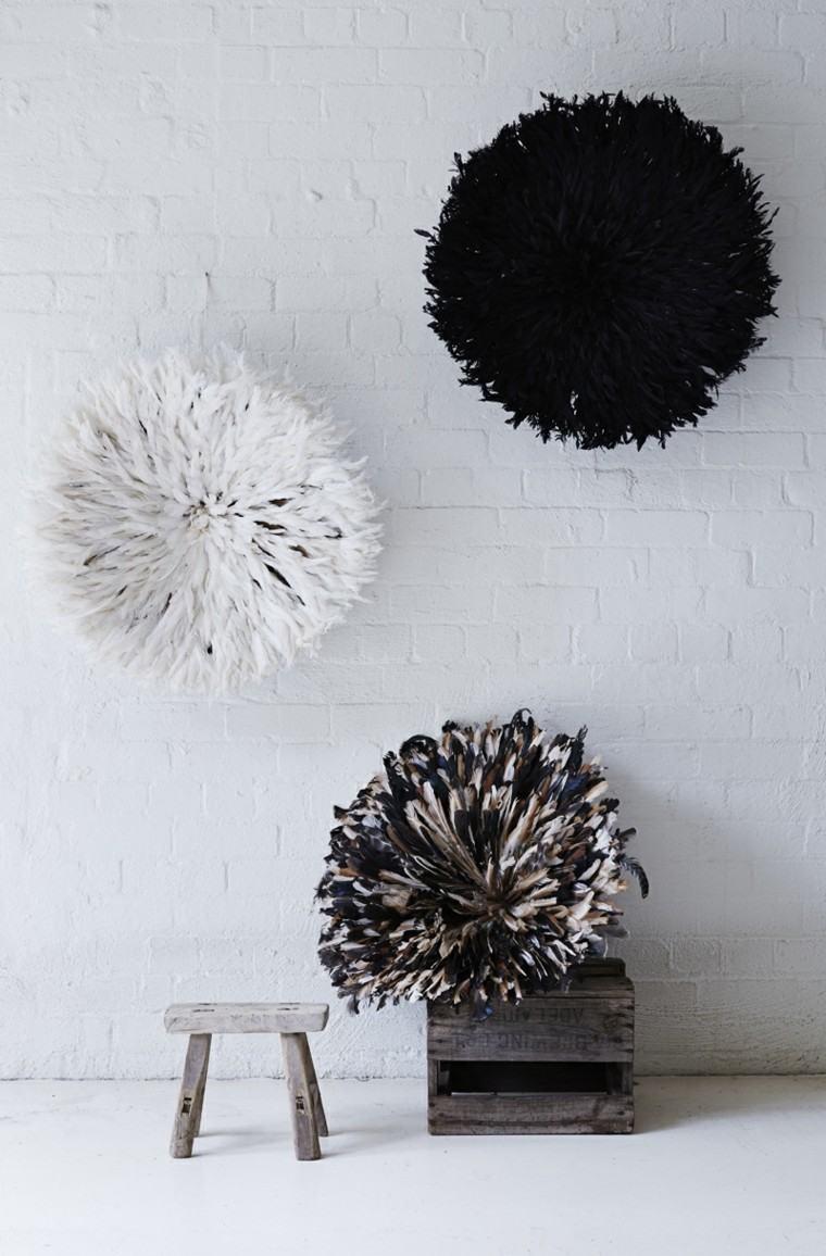 Plumas para decorar cincuenta ideas originales - Adornos para paredes ...