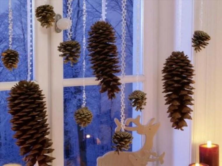 adornos de navidad conos pino reno