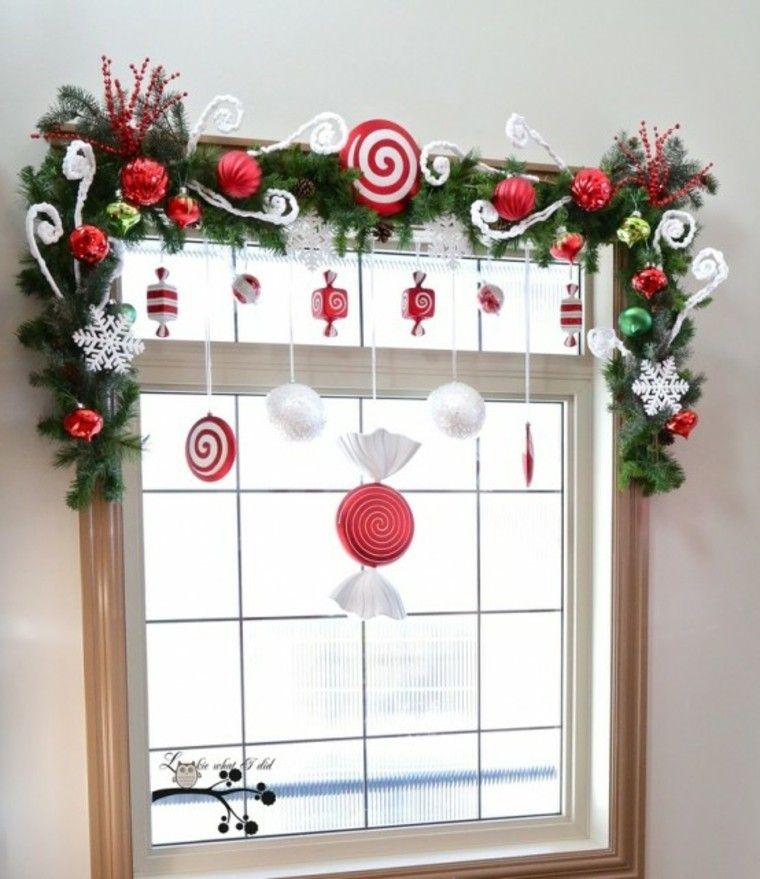 adornos de navidad cristales marco rojo