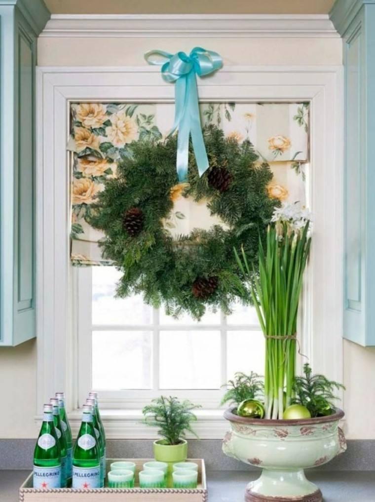 adornos de navidad vajilla basos azul