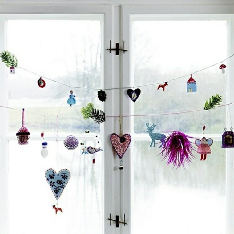 adornos de navidad ventanas diy colorido