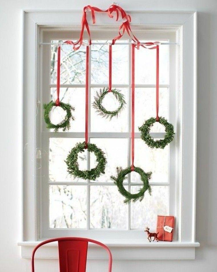 adornos de navidad ventanas reno ventana