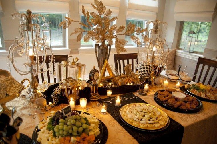 adornos mesa color dorado