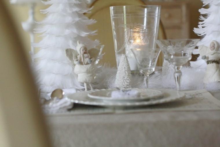 adornos navidad color blanco